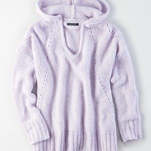 ae slouchy pullover hoodie - lively lilac